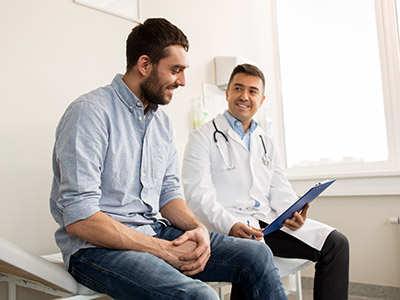 Patient Discussing the steps of Prostate Cancer